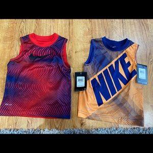 Lot of (2) Nike Dri-Fit Tanks, Boys 2T, New